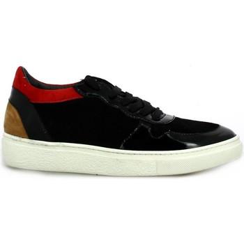 Chaussures Femme Baskets basses Reqin's Baskets cuir velours  / Noir/rouge