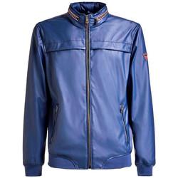 Vêtements Homme Vestes en cuir / synthétiques Guess Blouson homme urban bomber bleu M91L19