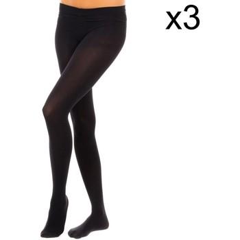 Sous-vêtements Femme Collants & bas Vignoni Bushy Panty Pack-3 M.Fibra 200D Noir