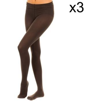 Sous-vêtements Femme Collants & bas Vignoni Bushy Panty Pack-3 M.Fibra 200D Marron