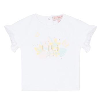 Vêtements Fille T-shirts manches courtes Lili Gaufrette NALIS Blanc