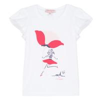 Vêtements Fille T-shirts manches courtes Lili Gaufrette KATINE Blanc