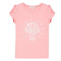 Vêtements Fille T-shirts manches courtes Lili Gaufrette KATIA Blush
