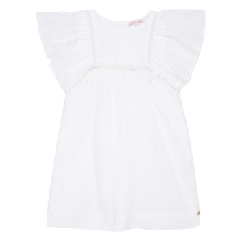 Vêtements Fille Robes courtes Lili Gaufrette MELINA Blanc
