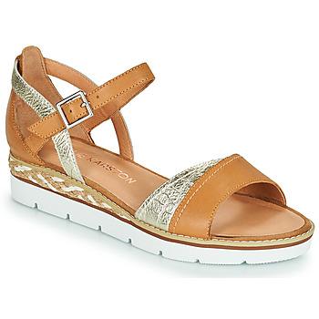 Chaussures Femme Sandales et Nu-pieds Karston KILGUM Marron / Argenté