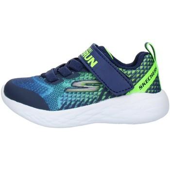 Chaussures Enfant Baskets basses Skechers 97858N Blue Lime