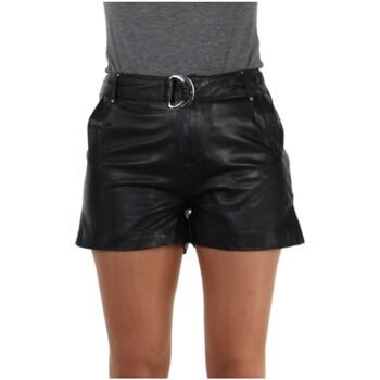 Vêtements Femme Shorts / Bermudas Daytona Short Rose Garden en cuir ref_46928 Noir Noir
