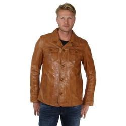 Vêtements Homme Blousons Daytona Blouson  Ralph en cuir ref_30710 Cognac Marron