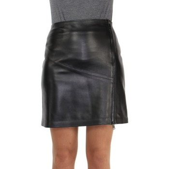 Vêtements Femme Jupes Giorgio Cuirs Jupe Giorgio cuir ref_47413 Noir Noir