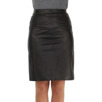 Vêtements Femme Jupes Giovanni Jupe  Lena cuir ref_47390 Noir Noir