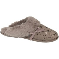 Chaussures Femme Chaussons Isotoner Chaussons mules  ref_44802 Taupe marron
