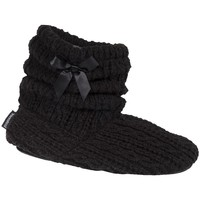 Chaussures Femme Chaussons Isotoner Chaussons botillons  ref_47920 Noir noir