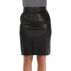 Vêtements Femme Jupes Pallas Cuir Jupe en cuir d'agneau ref_47566 Noir noir