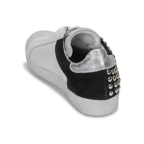 Meline Gellabelle Blanc / Noir - Livraison Gratuite- Chaussures Baskets Basses Femme 10120