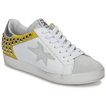 Chaussures Femme Baskets basses Meline GELLABELLE Blanc / Moutarde
