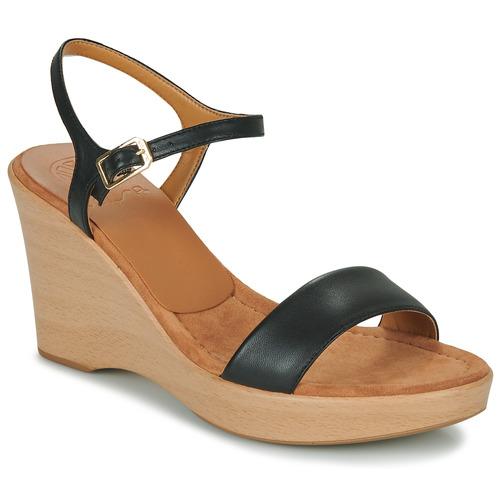 Chaussures Femme Sandales et Nu-pieds Unisa RITA Noir