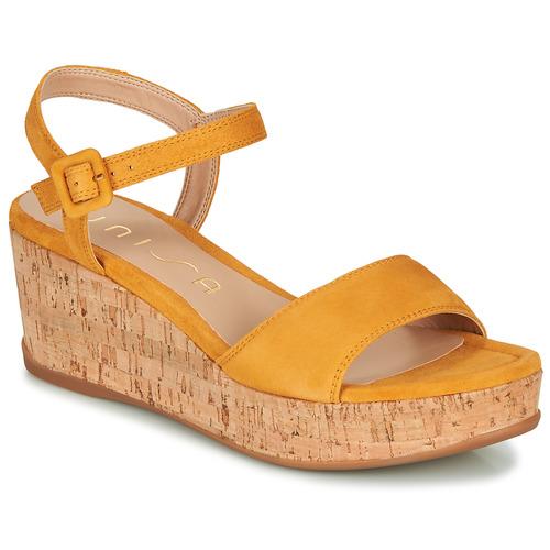 Chaussures Femme Sandales et Nu-pieds Unisa KOME Jaune