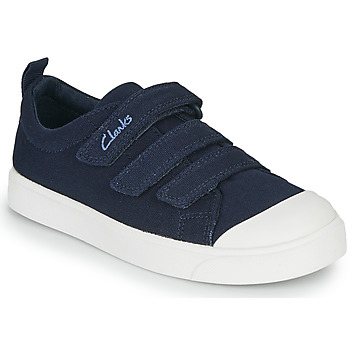 Chaussures Enfant Baskets basses Clarks CITY VIBE K Marine