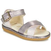 Chaussures Fille Sandales et Nu-pieds Clarks SKYLARK PURE T Argenté / Rosé