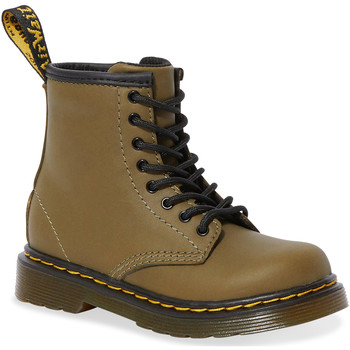 Chaussures Femme Bottes ville Dr Martens 1460 T Dms Olive Romario Smoother Finish Vert