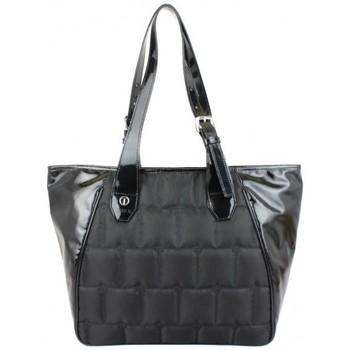 Sacs Femme Cabas / Sacs shopping Texier Sac cabas toile matelassée et vernie  France 20214 Noir