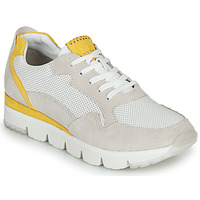 Chaussures Femme Baskets basses Marco Tozzi  Blanc / Jaune