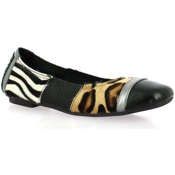 Chaussures Femme Ballerines / babies Reqin's Ballerines cuir Noir