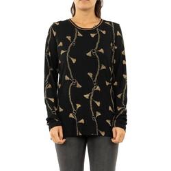 Vêtements Femme T-shirts manches longues Geisha 92821-60 000999 - black/camel noir