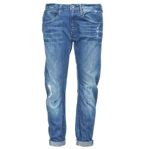 Vêtements Femme Jeans boyfriend G-Star Raw ARC 3D LOW BOYFRIEND Watton Denim Medium Aged Destroy