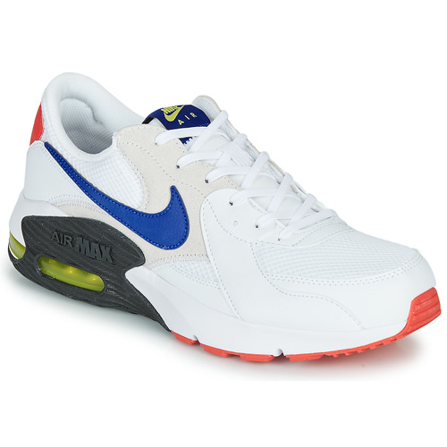 Nike AIR MAX EXCEE Blanc / Bleu - Chaussures Baskets basses Homme ...