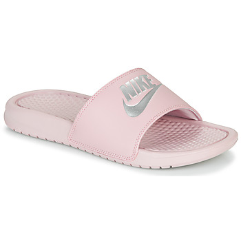 Chaussures Femme Claquettes Nike BENASSI JUST DO IT Rose