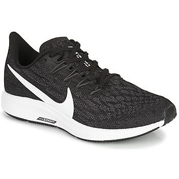 Chaussures Femme Running / trail Nike ZOOM PEGASUS 36 Noir / Blanc
