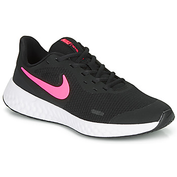 Chaussures Fille Baskets basses Nike REVOLUTION 5 GS Noir / Rose
