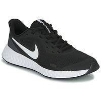 Chaussures Enfant Baskets basses Nike REVOLUTION 5 GS Noir / Blanc