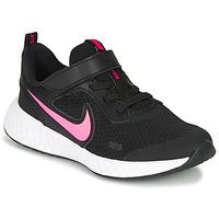 Chaussures Fille Multisport Nike REVOLUTION 5 PS Noir / Rose