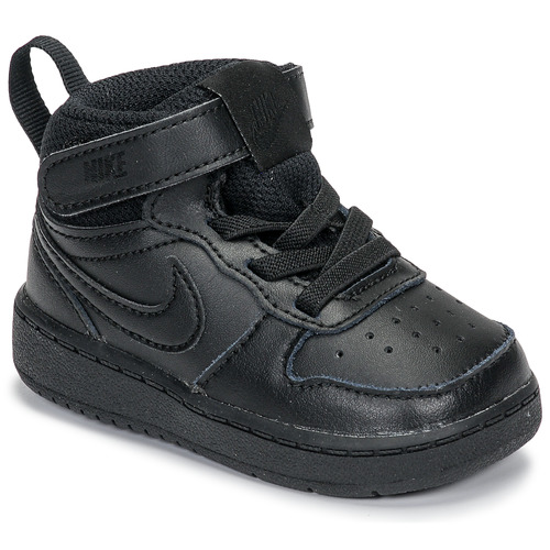 Chaussures Enfant Baskets montantes Nike COURT BOROUGH MID 2 TD Noir