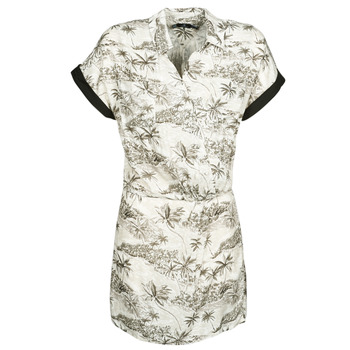 Vêtements Femme Robes courtes Volcom VACAY ME SS DRESS Blanc
