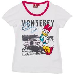 Vêtements Fille T-shirts manches courtes Disney T-shirt m / Short Daisy Blanc