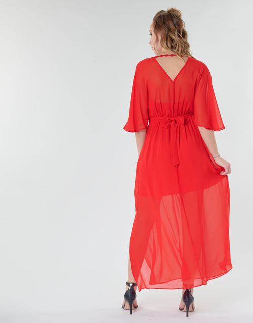 CAMILLE R1  Naf Naf  robes longues  femme  rouge
