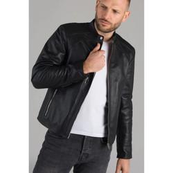 Vêtements Homme Vestes en cuir / synthétiques Serge Pariente LENI AG NOIR Noir