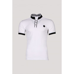 Vêtements Homme Polos manches courtes Deeluxe Polo SQUARTER White