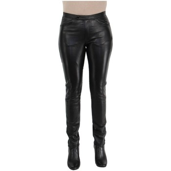 Vêtements Femme Leggings Giorgio Cuirs Pantalon en cuir Giorgio ref_47410 Noir Noir