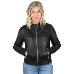 Vêtements Femme Blousons Pallas Cuir Veste en cuir agneau ref_47641 Noir noir