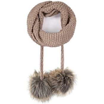Accessoires textile Femme Echarpes / Etoles / Foulards Mokalunga Echarpe et bonnet Layra Taupe