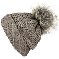 Accessoires textile Femme Bonnets Mokalunga Snood et bonnet Komin Taupe