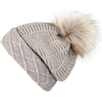 Accessoires textile Femme Bonnets Mokalunga Snood et bonnet Komin Beige