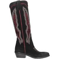 Chaussures Femme Bottes ville Metisse TEX247 Noir / Rouge