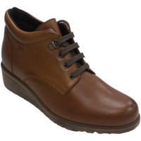 Chaussures Femme Bottes Pepe Menargues Botte lacée femme  en cuir marrón