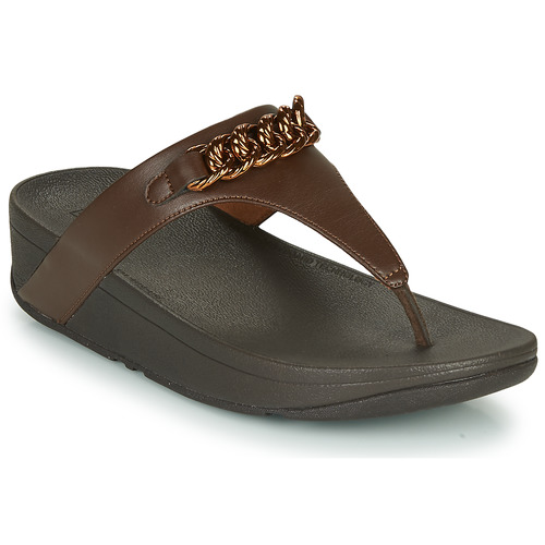Chaussures Femme Tongs FitFlop LOTTIE CHAIN TOE-THONGS Marron