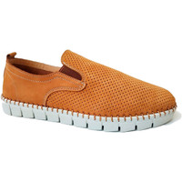 Chaussures Homme Mocassins Primocx Chaussure homme large spécial confortabl marrón
